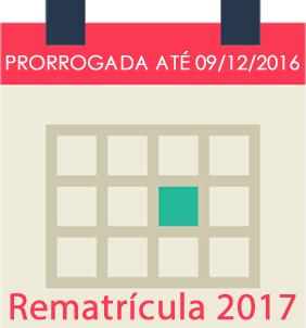 Rematrícula 2017 prorrogada até 09/12/2016